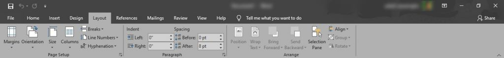 MS Word,MS Office,Microsoft Office Word Page Layout Tab