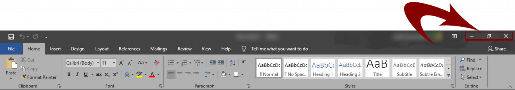 MS Word,Ms Office Title Bar,Download Office 2016