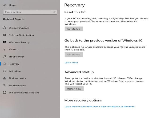 Fix Windows 10 Blue Screen Error