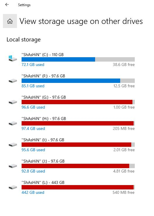 Configure Windows 10 Storage Settings